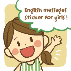 Message sticker for girls