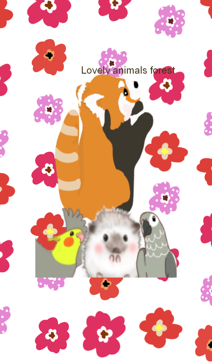 Lovely animals forest