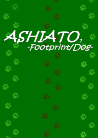 ASHIATO-Footprint Dog- Green