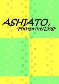 ASHIATO 2 -Footprint,Dog-Yellow × Green