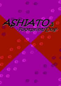 ASHIATO 3 -Dog- Dark Pink & Red