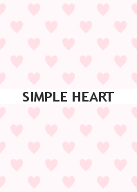 SIMPLE HEART -pale pink-