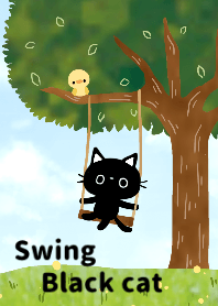 Swing Black cat